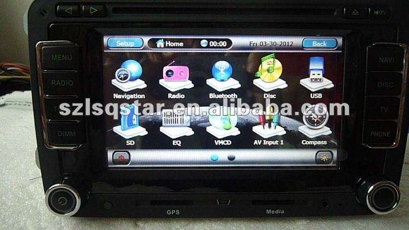 Free shipping 3G Volkswagen golf 5\6 CAR pc DVD Player  canbus air cond & parking assist, hot! ST-7608