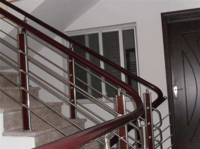 Design modern stainless steel outdoor metal stair railing - Steel stair railing design ...