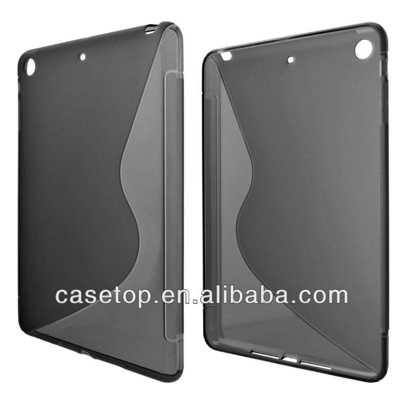 S shape clear tpu case for ipad mini 2