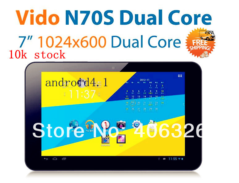 EMS Freeship RU UA Yuandao Window N70S Android 4.1.1 jelly 7 RK3066 Dual core 1.6Ghz 8GB tablet 2PCS     .jpg
