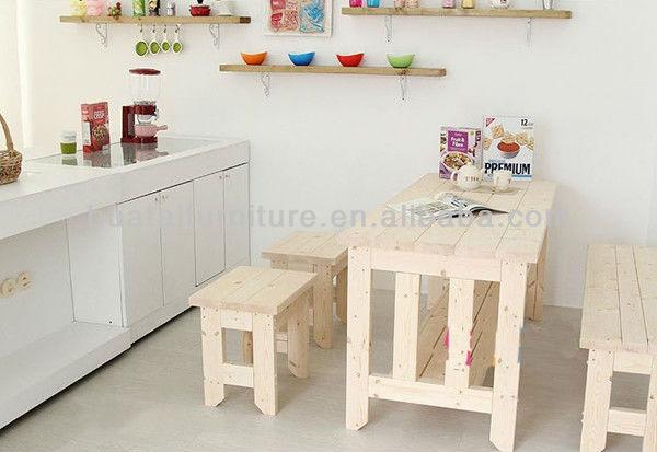 Moderne massief houten tafel massief hout bank keuken tafel en ...