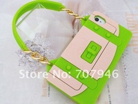 Чехол для для мобильных телефонов 3D Fashion Handbag Chain Design Silicone Soft Case Cover For apple iPhone 4G 4S