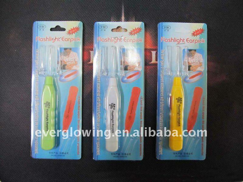 High quality Violin LED Flashlight Earpick/Ear Wax Cleaner Lighting Earpick/Curette ear scoop