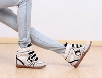 Женские кеды Isabel Marant Sneakers Wedge Increasing Genuine Leather Women shoes casual Drop