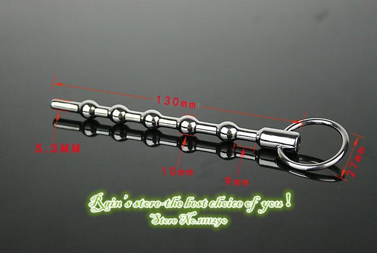 130 мм с одним кольцом продукты секса уретры звук игрушки катетеры мужчины игрушки целомудрие устройство из нержавеющей стали звучать пенис пробки