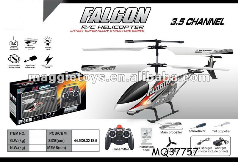MQ37760 3.5ch Alloy RC toy helicopter with plastic missile
