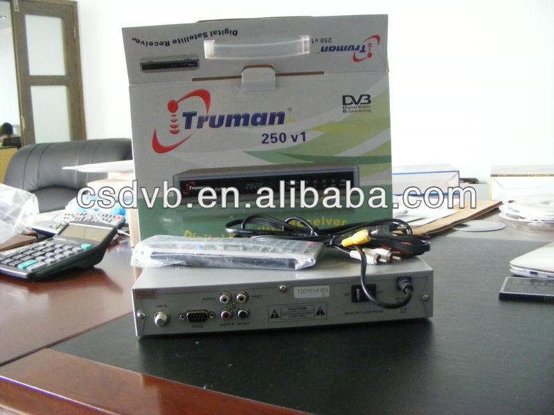 Fta truman récepteur truman 250 v1 dvb - s récepteur satellite