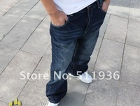 2012 new supler  large size 46 5XL loose cool hiphop long jeans long trousers street dancing pants long free shipping #F62402