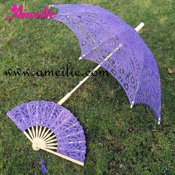 Бесплатная Доставка Бельгийский Свадьба Кружевные Зонты И вентилятор Свадебный Зонтик Свадебный Комплект