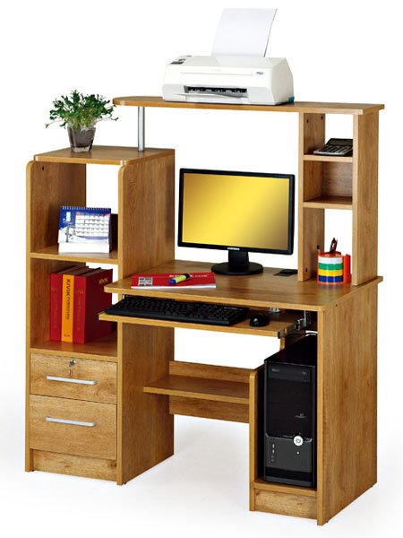 Multi function Wooden Computer Desk With Cpu Holder