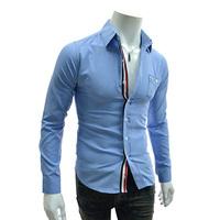Продажа новой моды разрез яркие декоративные ленты Повседневные топы тонкий длинный рукав отложным воротником рубашки 5 цветов 561536