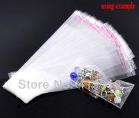 Упаковочные пакеты 200Pcs Clear Self Adhesive Seal Plastic Bags 14x3.5cm M00859