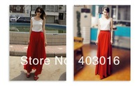 Женская юбка High Quality 2013 Bohemian Style Hot Selling Chiffon Long Skirt Waist Skirt 7 Color 3 Size