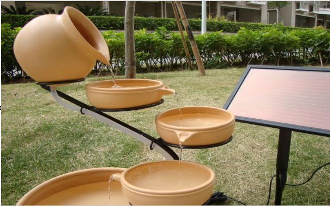 enfeites de jardim solar : enfeites de jardim solar:Cascata Fonte Solar-Outros enfeites e adornos de água para jardim