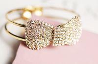 0983 nn bling claw drill full rhinestone bow brief spring bangles accessories bracelet