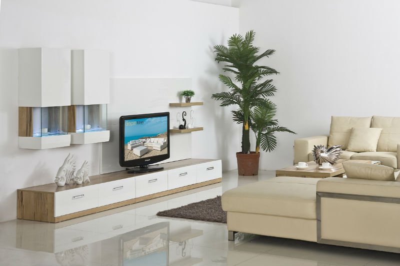 الأنيقة الحديثة تلفزيون جدار الوحدة
