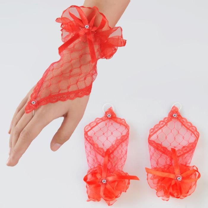 Перчатки для девочек праздничные мастер класс