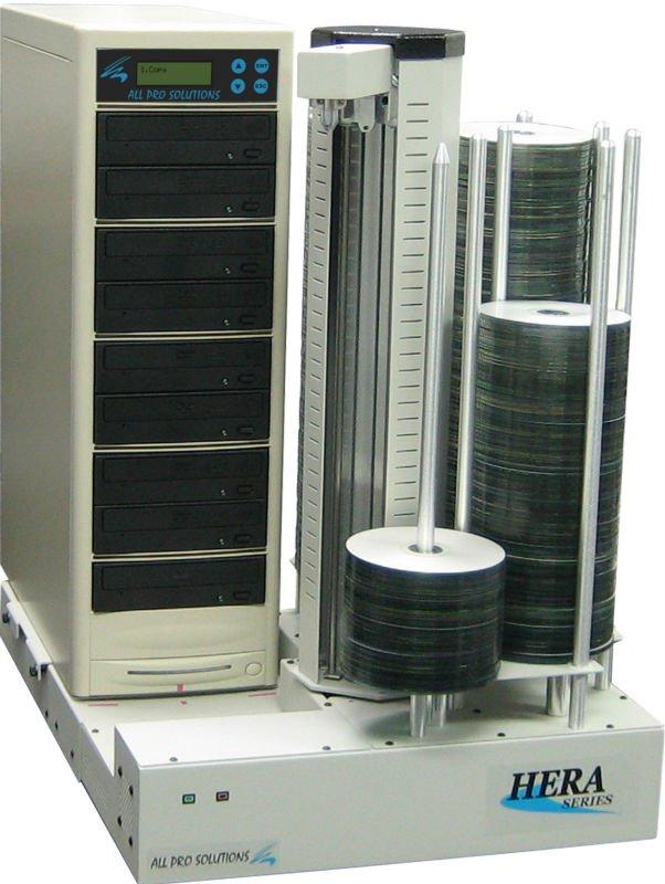 6-Drive Blu-Ray CD DVD Duplicator, 630 Disc Capacity, 500GB HDD