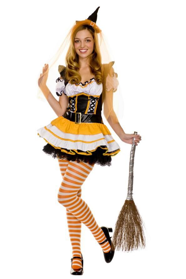 Сексуальная ведьма костюмы на Хэллоуин костюмы женщинам с hat