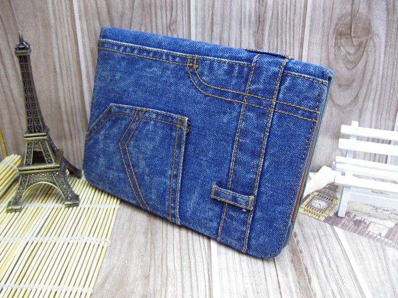Fashion Design Leather Case Jean Case for Apple iPad Mini