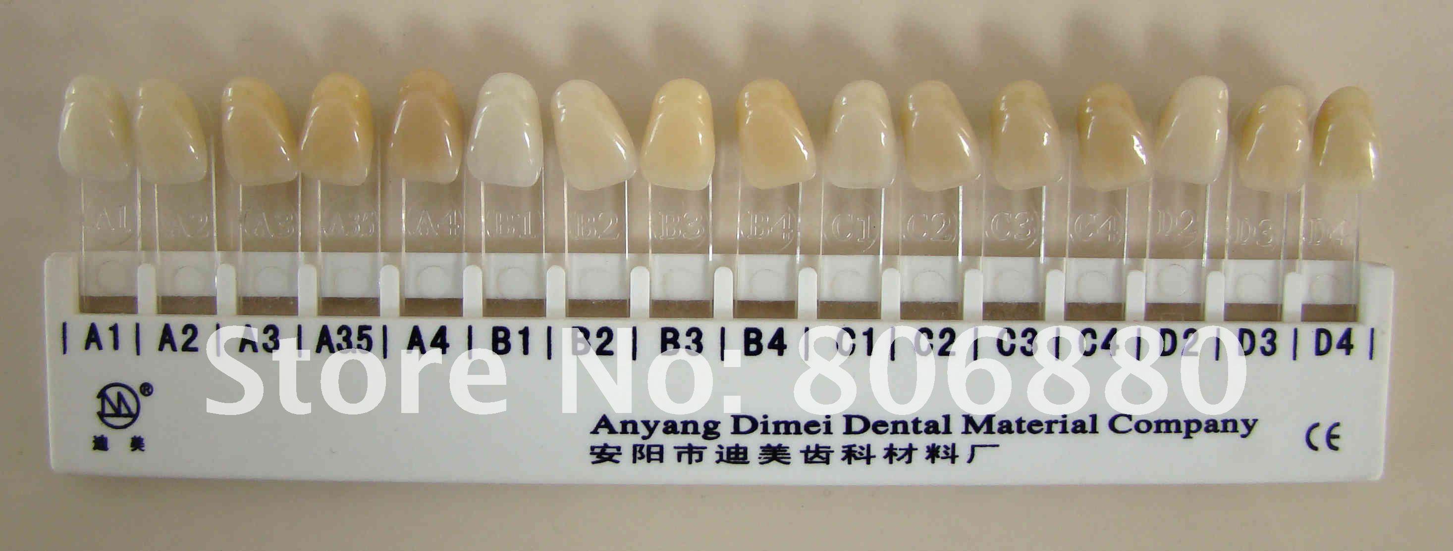 dentle color picture charts: Dentle color picture charts dental crown color selection dental
