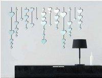 девушка дует звезд украшения акриловые зеркало, своп пространства ТВ фон стены, Зеркало настенное украшение дома мебели