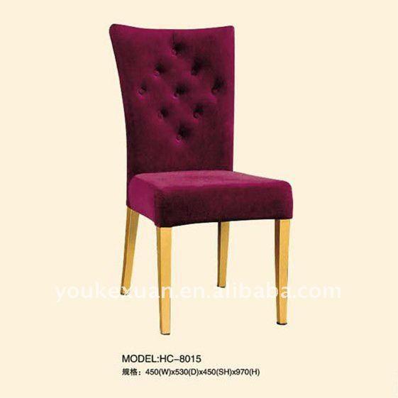 Sillas de comedor tapizadas hc 8015 sillas de metal ...