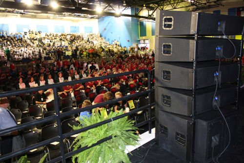 compact size neodymium line array system dj equipment