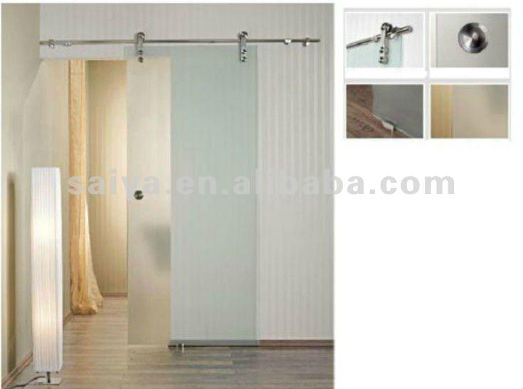 Sin marco de vidrio puerta corredera de la ducha y - Marco puerta corredera ...