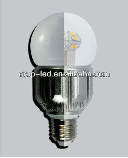 ul listed 360 degree 6w 5w 4w led bulb 12.7W E27/B22/E26 with Clear lens