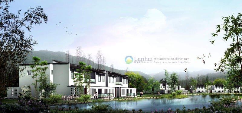 perspective of Xiangshui village settlement