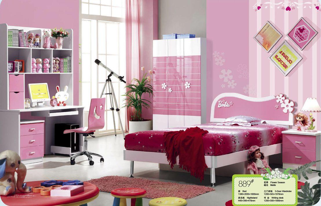 Pas cher rose enfants des ensembles de meubles de chambre - Set de chambre pas cher ...