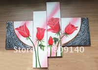 Картина New painting Rose Flower oil painting on canvas high quality hand painted home decor wall art artwork gallery