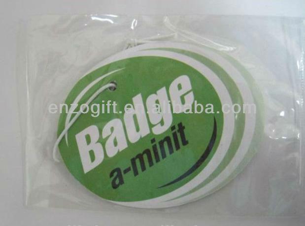 mint smell paper car freshener, New car scent hanging freshener decoration