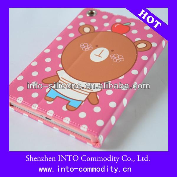 Animal Catoon PU+PC Leather Case For Ipad Mini