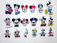 M31 Wholesale Mix 100Pcs  Alloy Metal Enamel mickey mouse Charms  DIY hang pendant accessories