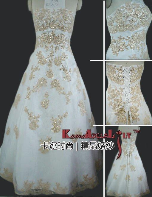Золотые нити платья