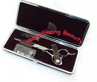 "Ножницы New Ariival! 5.5"" Brand Samurai Quality Japanese Hair Cutting Scissors, Gifts: Scissor Oil+Sheepskin Clean Coat+Scissor Case"