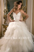 Свадебное платье 2012 free shipping Hot sale New Sexy white/ivory wedding dress Bridal Gown custom size 2/20+