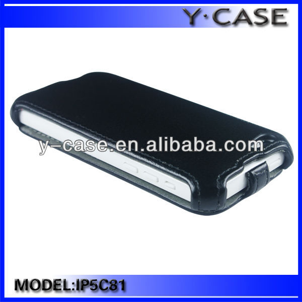 thermal pressing Flip leather case cover for cheap iPhone 5C mobile phone leather case
