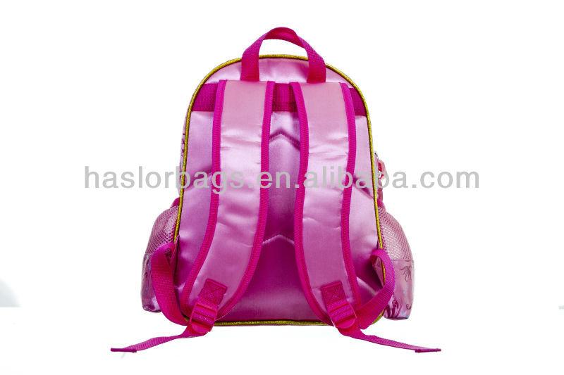 Polyester Satin matériau rose cartable spéciale sacs à dos sacs