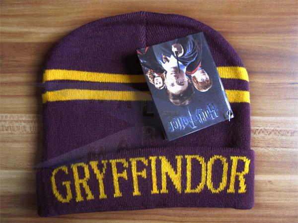 Гарри Поттер Гриффиндора Слизерин сгущаться теплой шерсти вязать шляпу cap p20