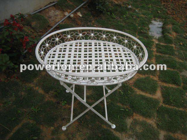 mesa para jardim ferro:2012 mesa bandeja De jardim Ferro-Conjuntos de jardim-ID do produto