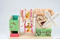 Музыкальная шкатулка Wood frame pavilion king pen rotating music box