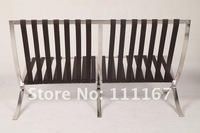 Ludwig Mies Van Der Rohe Style Barcelona Sofa 2 Seat