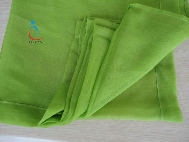plain dyed polyester voile fabric