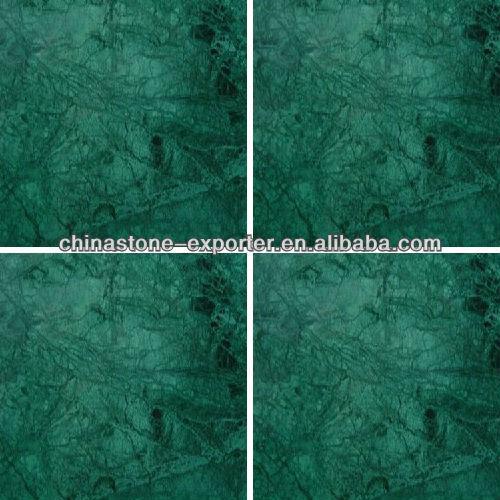 Green marble floor tiles