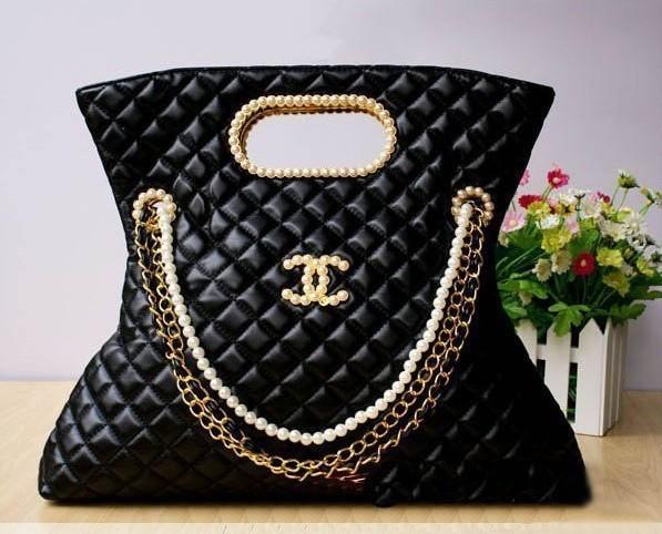 Маленькая сумочка bags plaid polka dot pearl chain vintage women's handbag one shoulder pearl bag banana bag
