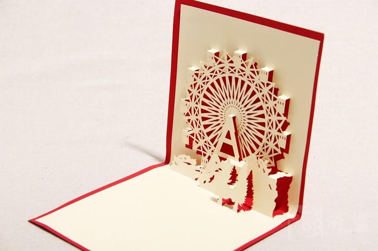 Ferris Wheel Card Ferris Wheel Greeting Card