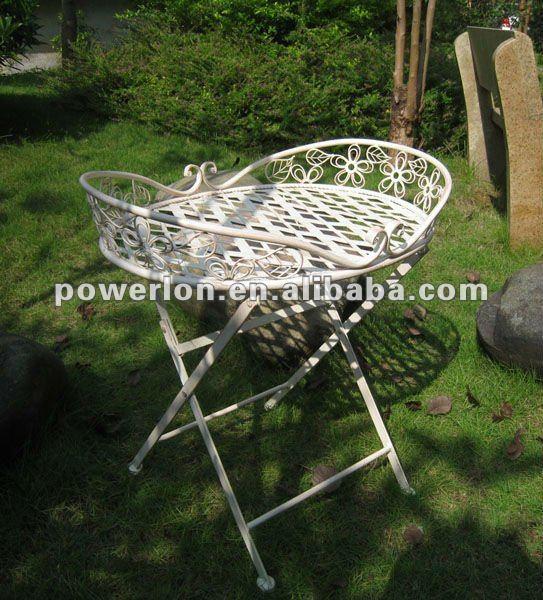 mesa de jardim ferro:2012 mesa bandeja De jardim Ferro-Conjuntos de jardim-ID do produto